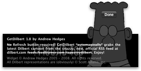 GetDilbert: back of interface